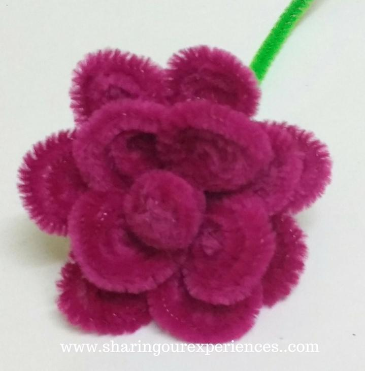 pipe cleaners roses