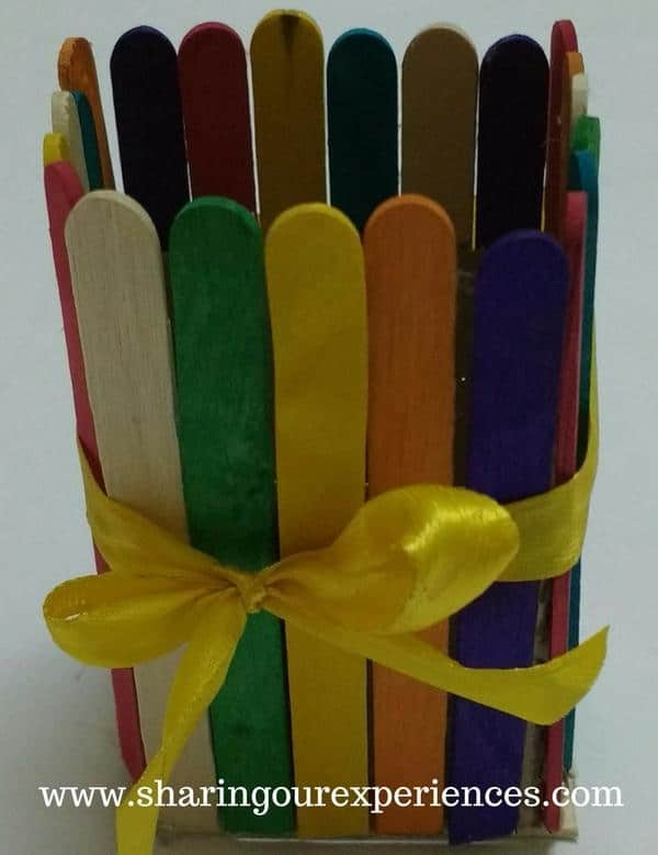Easter Basket with popsicle stick 5