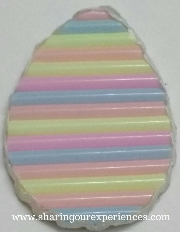 Easter egg with straws