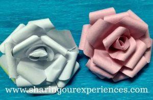 DIY Crepe Paper Rose flowers