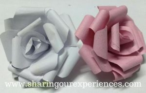DIY Rose from construction papers