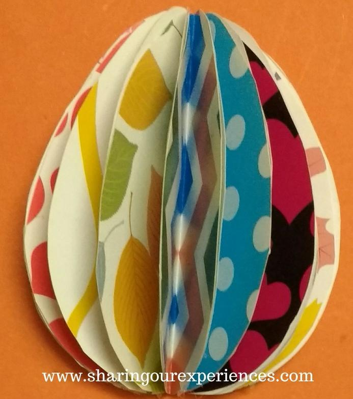 3 dimensional Easter eggs with colored papers