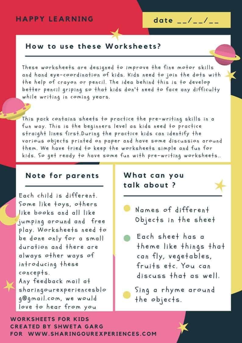 Pre Writing Worksheets Printables Beginners Level Cover