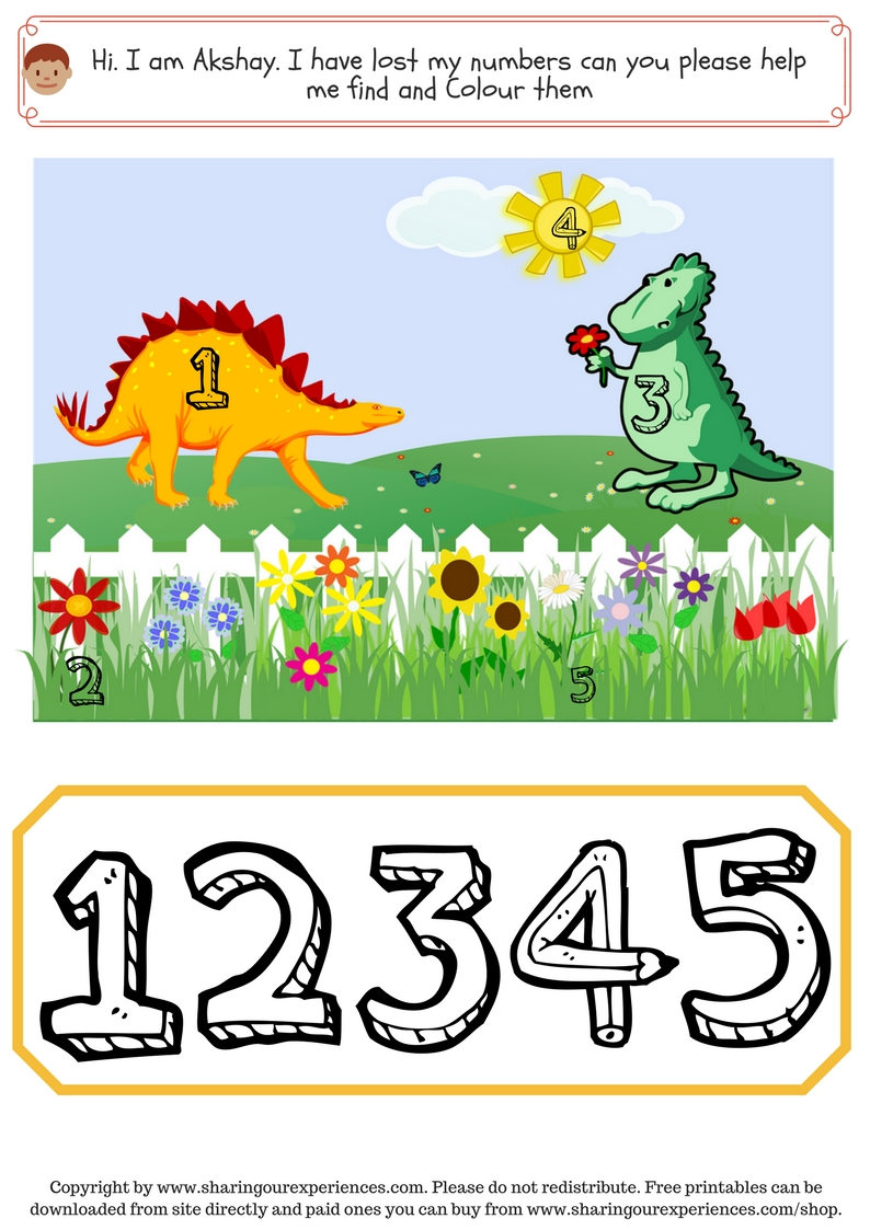 Number sequencing Dinosaur themed activities for kids (1)