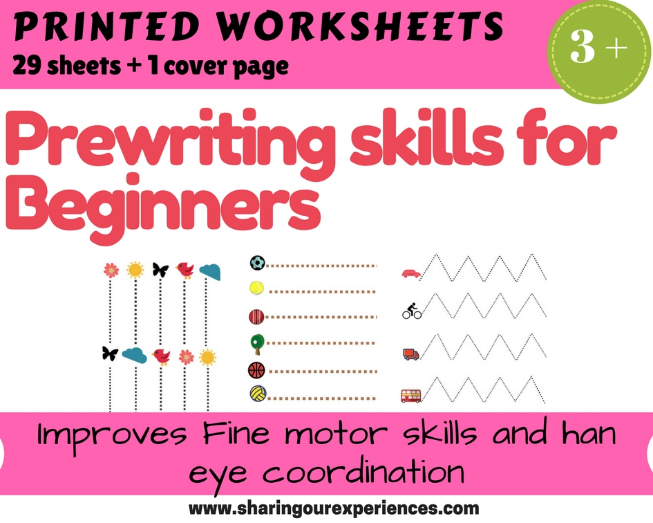 Prewriting worksheets for toddlers