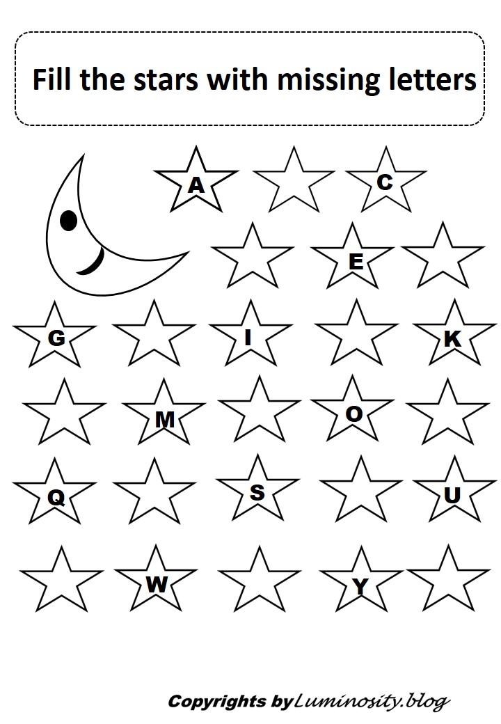 Learning alphabets worksheet