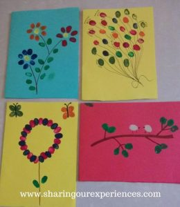 Fingerprint Greeting Card - Activity For Kids