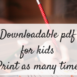 Downloadable pdf printables