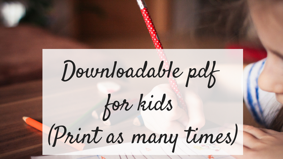 Downloadable pdf printables for kids