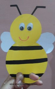 Very easy Honey Bee Finger Puppet | Fun crafts for kids
