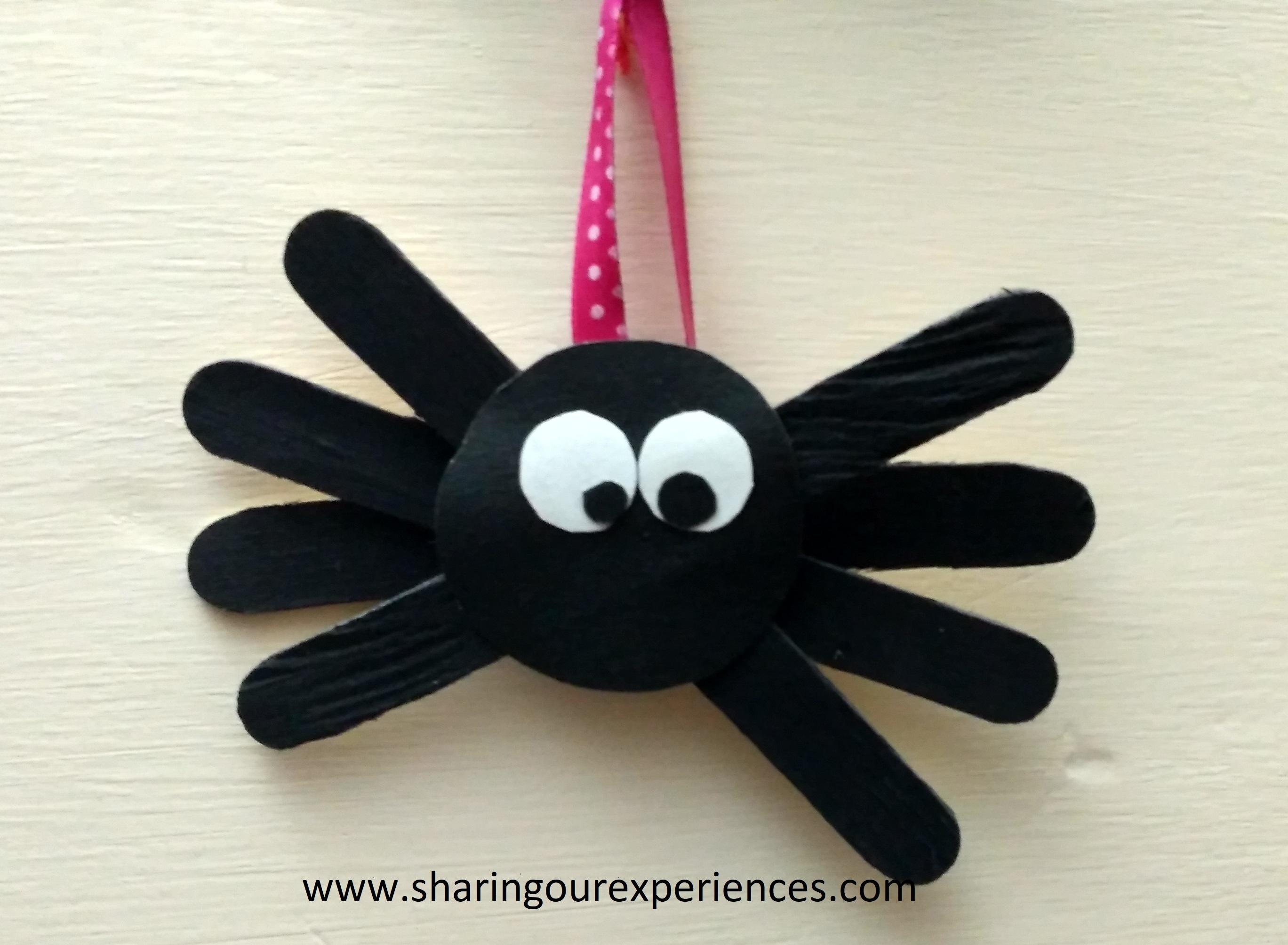 Easy spider craft for kids