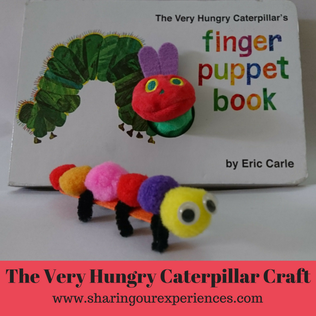 The Very hungry caterpillar with popsicle sticks and pipe cleaner