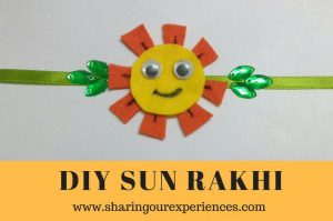 DIY handmade Sun Rakhi | Perfect for young kids #Rakhi #diy #handmade #kidscrafts