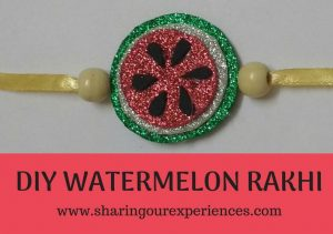 DIY handmade Watermelon Themed Rakhi for kids | Easy and fun Rakhi craft #Kidscrafts #DIY #HandmadeRakhi