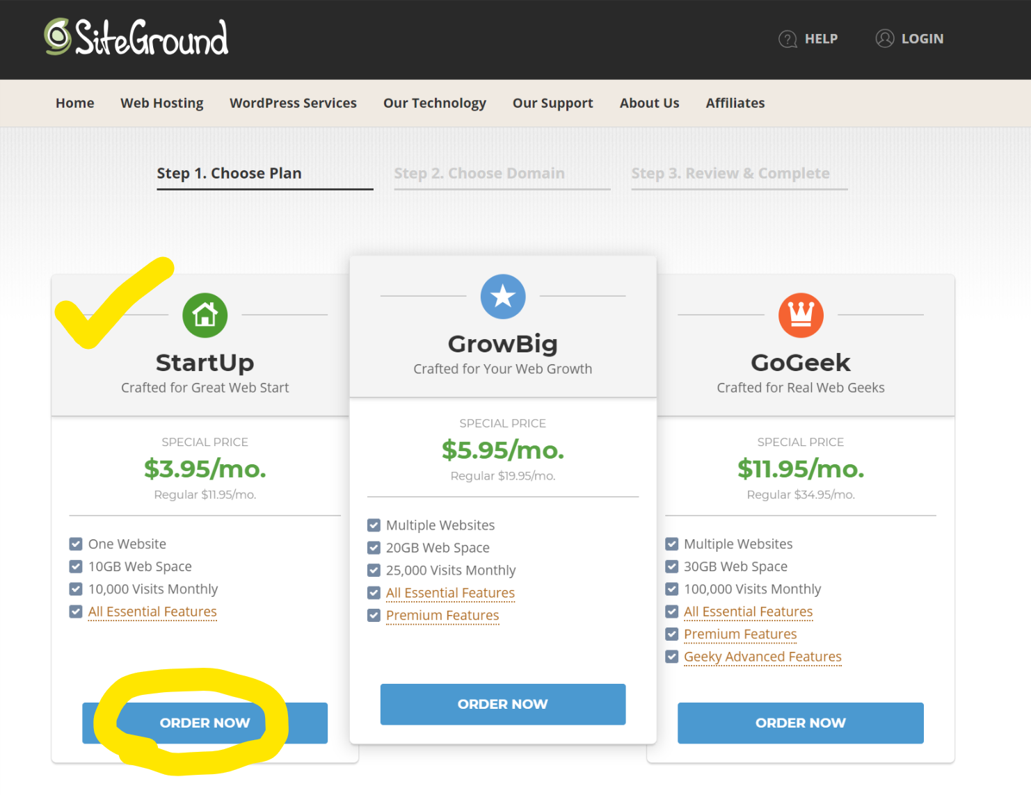 How to start a Wordpres Blog using Siteground 2