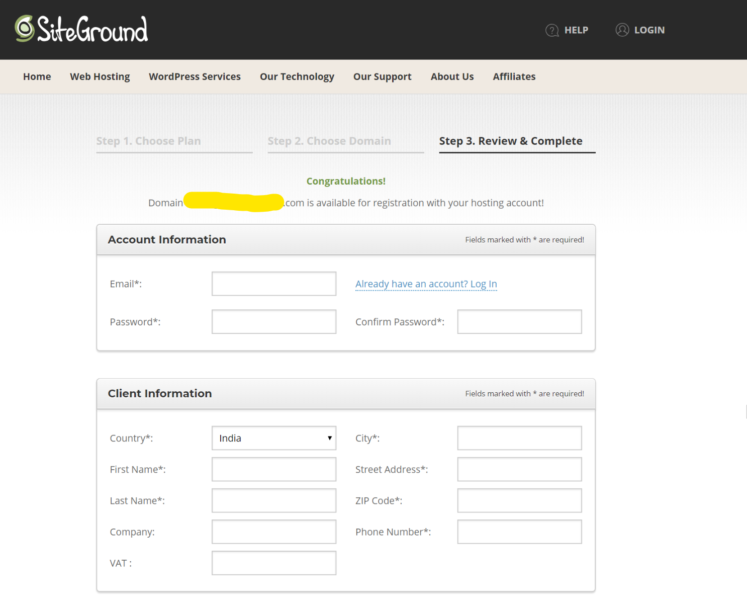How to start a WordPress Blog using Siteground 4