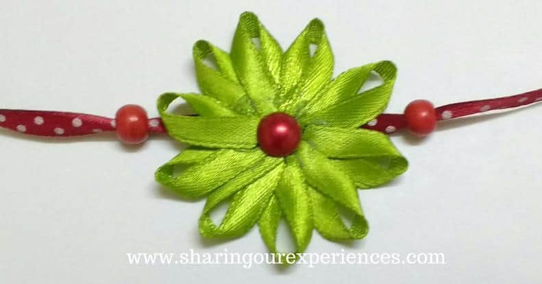 DOY Rakhi with Satin ribbons