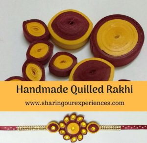 DIY handmade Quilled Rakhi | Perfect for all #Rakhi #diy #handmade #kidscrafts