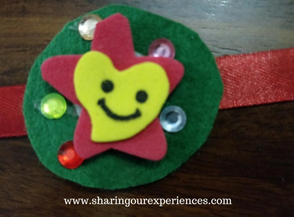 Free step by step crafts tutorial on how to make a rakhi at home with foam sheets. This colorful Foam Rakhi craft for kids would be a fun way to create some cool Rakhis at home by kids as young as toddlers and preschoolers (3 to 5 years old).