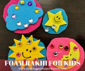 DIY Foam Rakhi for kids | Simple diy handmade rakhi ideas #Rakhicrafts #Kids #Crafts #Foamcrafts