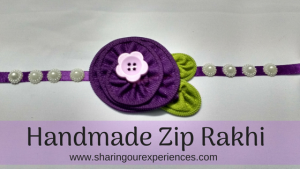 DIY Zip Rakhi | Homemade Rakhi with coloured zips #Rakhicrafts #DIY #Rakhi #Handmade