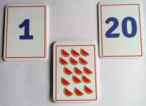 numbers ans counting flashcards for kids