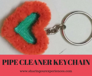 Pipe Cleaner Key Chain Craft for Kids and Adults #Kidscrafts #Handmadegifts #DIY #Crafts