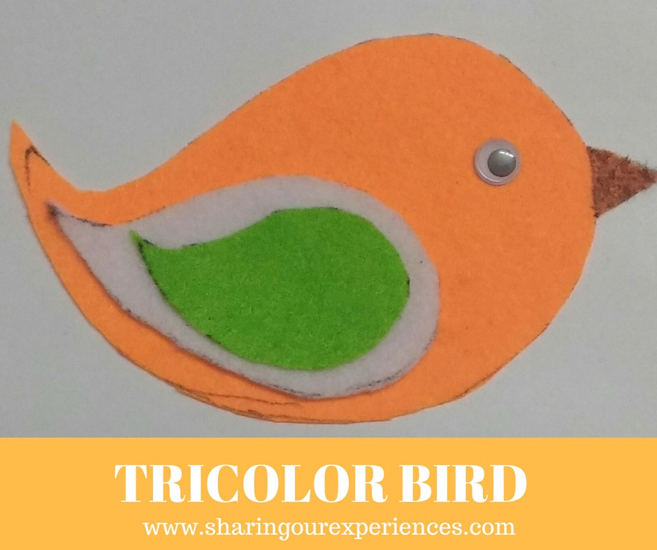 Tricolor Bird Craft For Kids With Paper Republic Day And