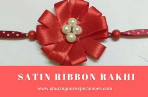 DIY Satin Ribbon Rakhi |Homemade Rakhi with satin ribbon #Rakhicrafts #DIY #Rakhi #Handmade
