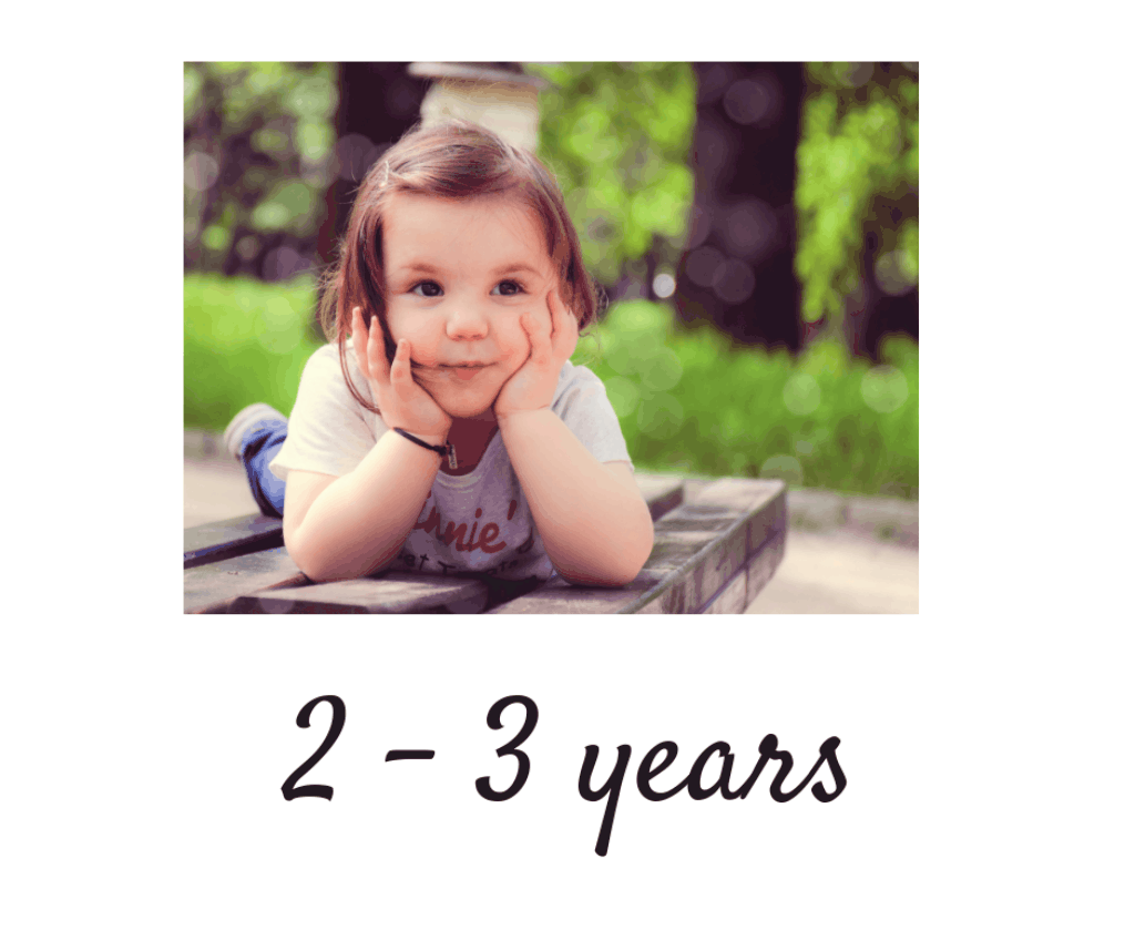 2 -3 years toddlers