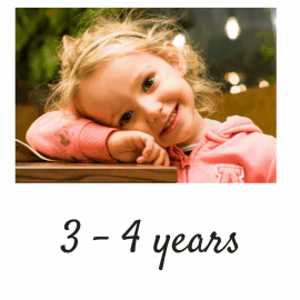 Age 3 - 4 years