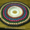 CD T light candle holder craft with beads