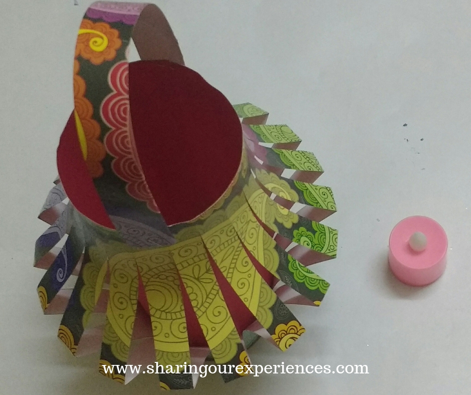 DIY Paper Kandil For Diwali 13