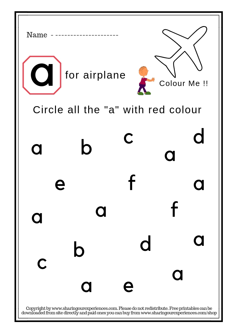 Small alphabets recignition activity books for kids