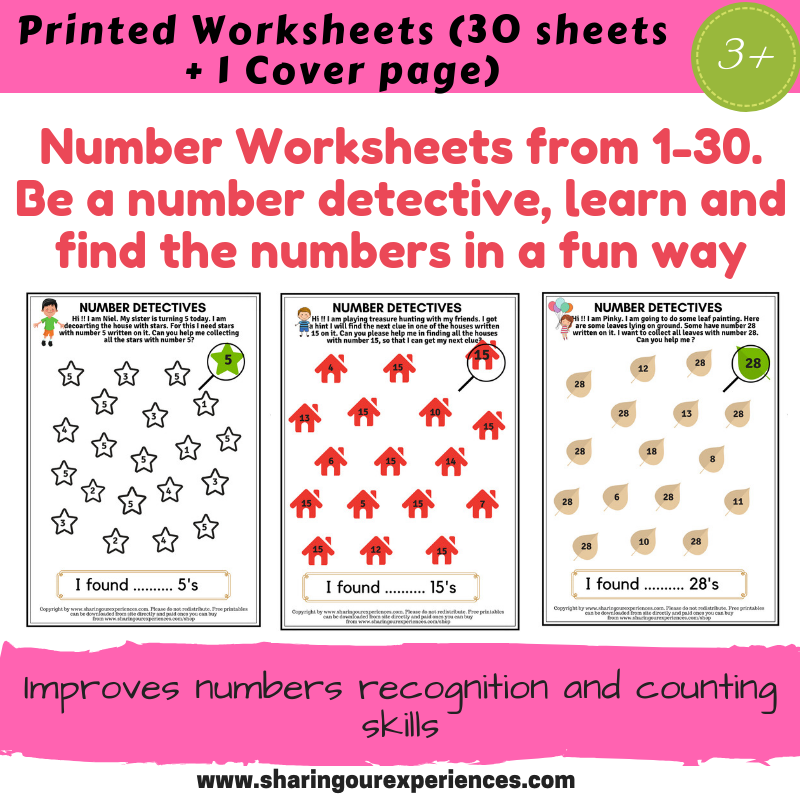 Number Worksheets Coverpage