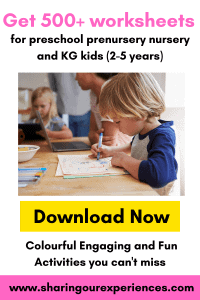 Preschool Worksheets for kids. Nursery and KG worksheets