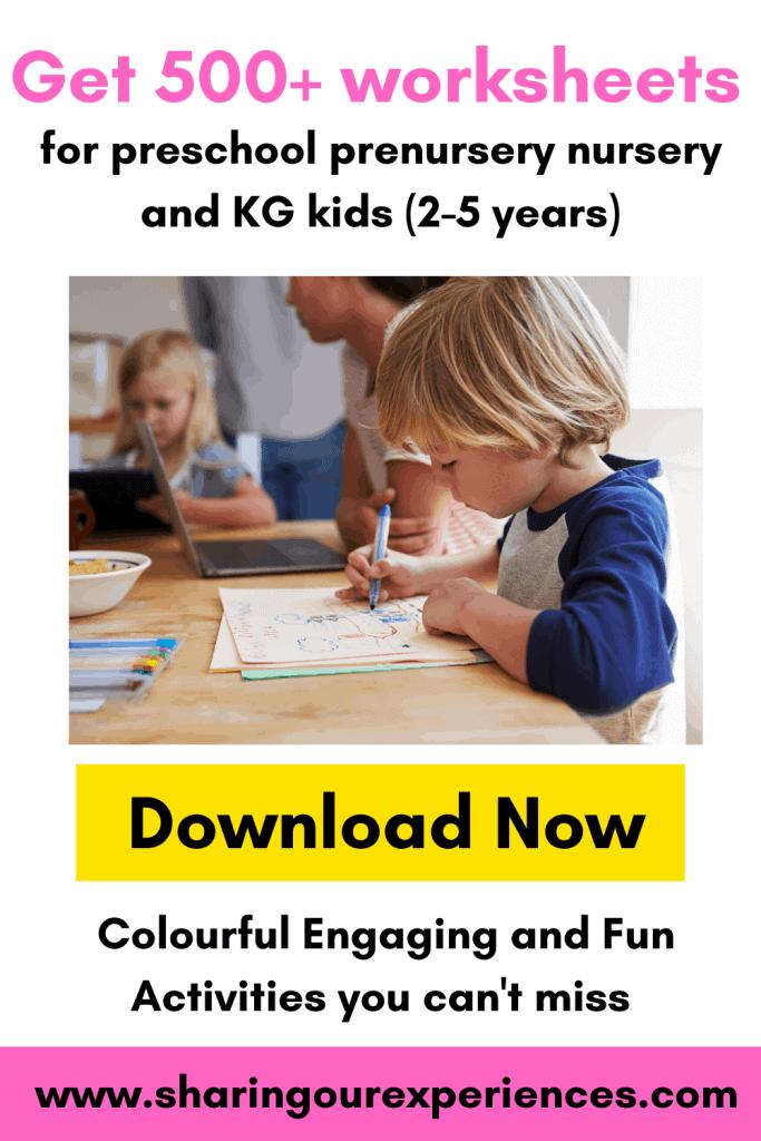 Preschool Worksheets for kids. Nursery and KG worksheets