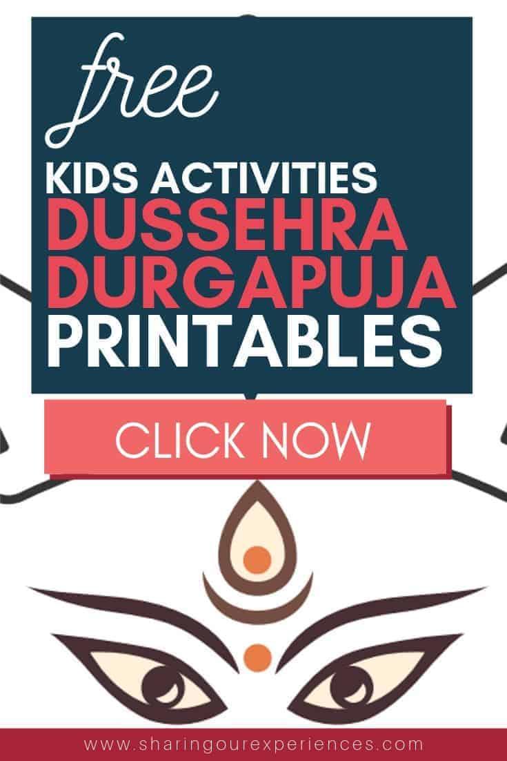 dussehra activites for kids free dussehra printables