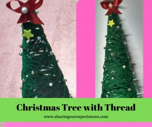 Easy Tutorial on How to make DIY Christmas Tree with Yarn- Perfect craft for kids