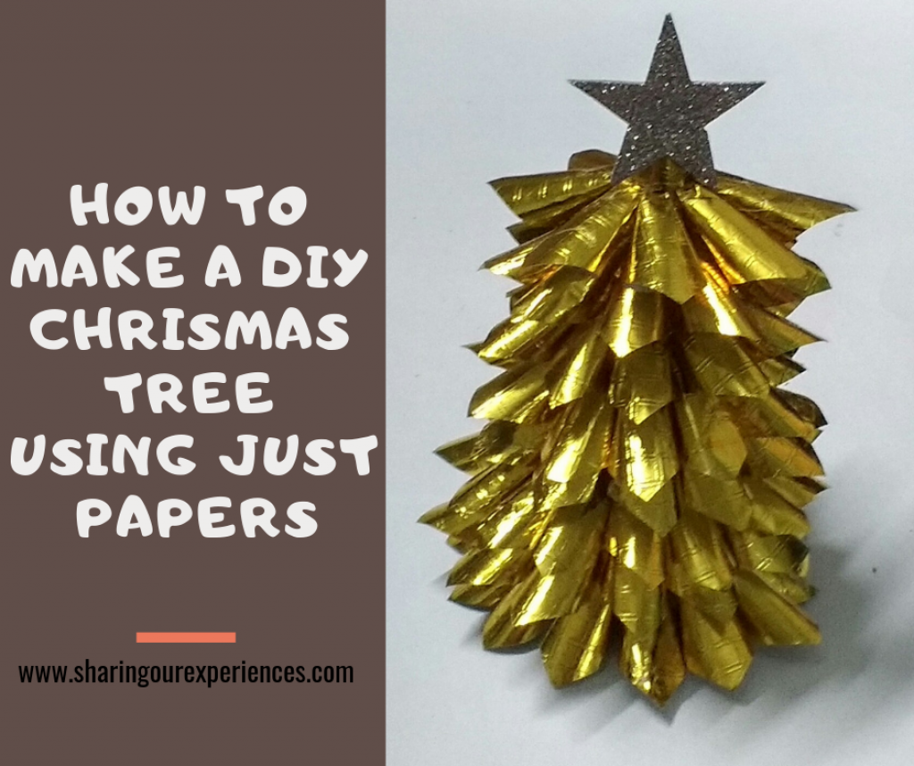 How to make a DIY Christmas tree using Paper