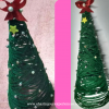 christmas tree with yarn or thread or wool