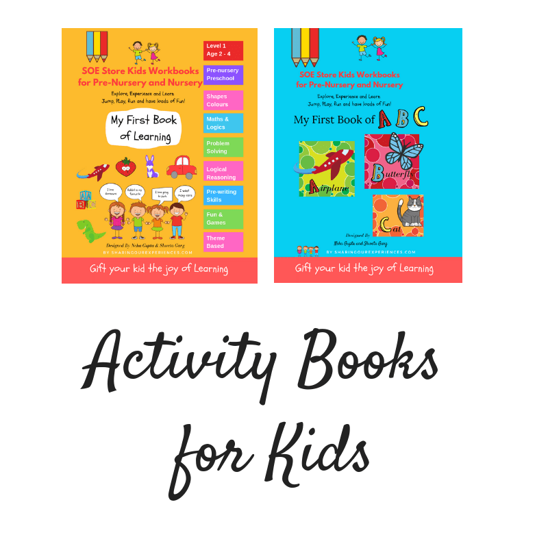 Preschool Activity Books for Kids toddlers nursery prenursery preschoolers