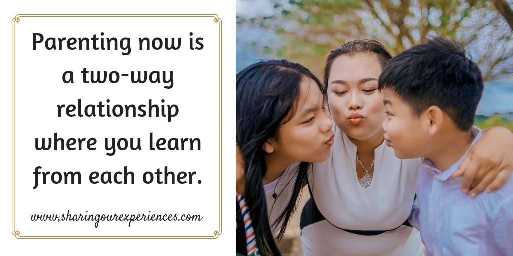 Parenting now is a two-way relationship where you learn from each other. #parentingquotes #Positive #Inspirational