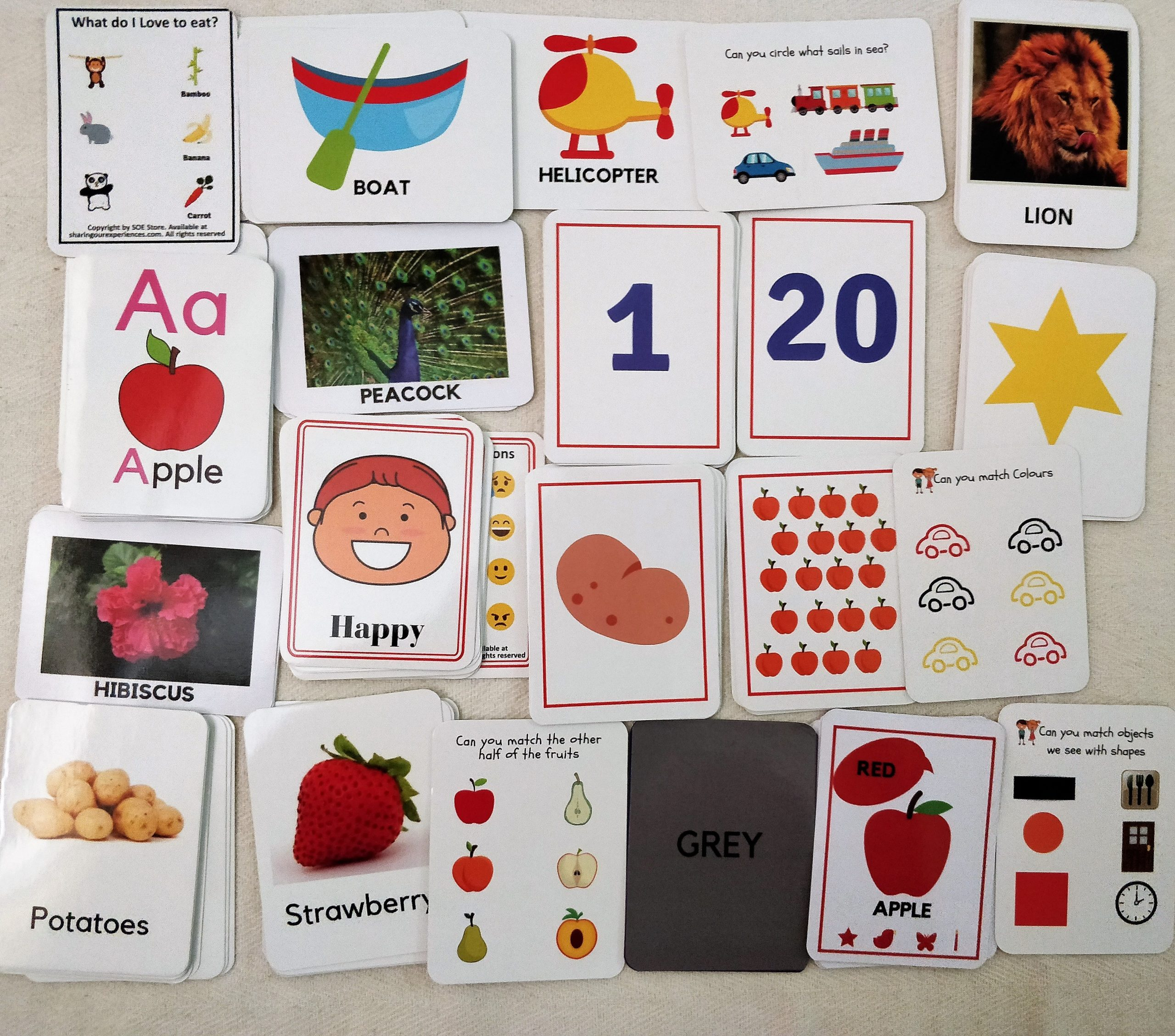 Preschool Learning Pack Flash cards for kids combo