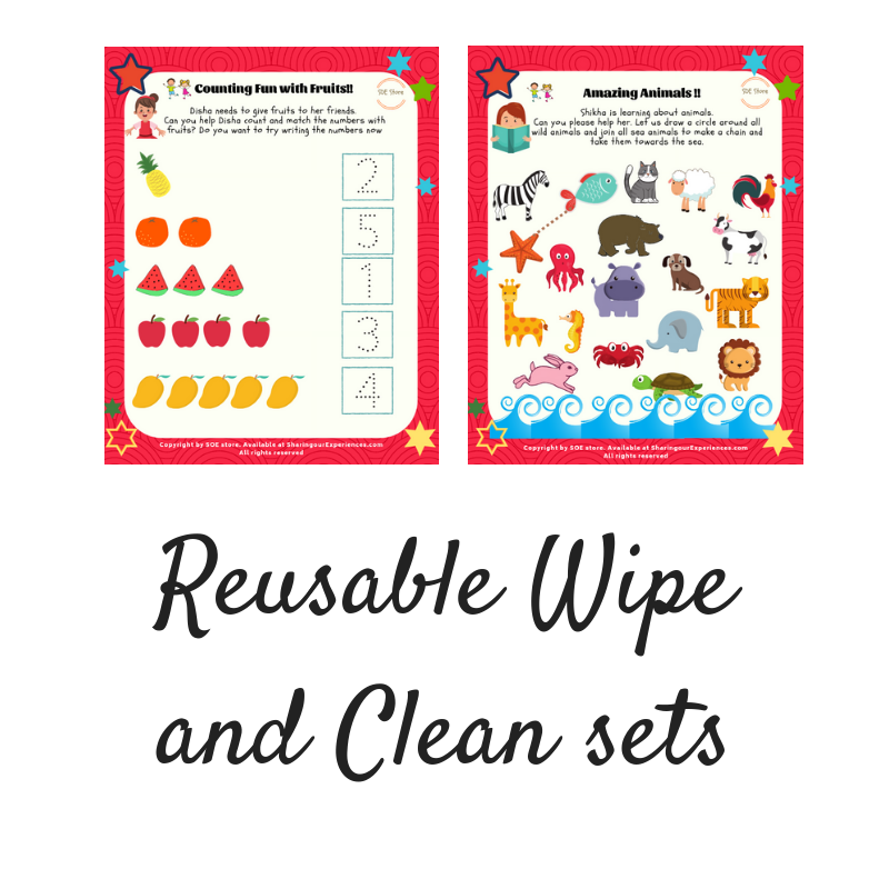Reusable Wipe and Clean sets
