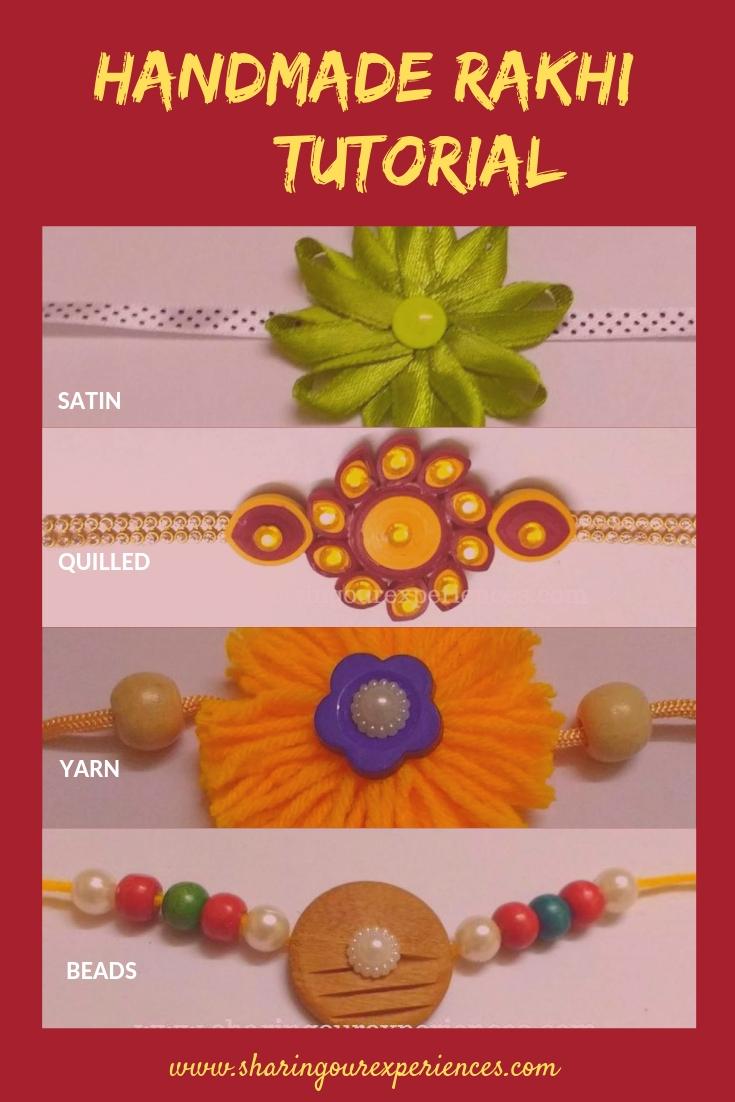 handmade yarn rakhi