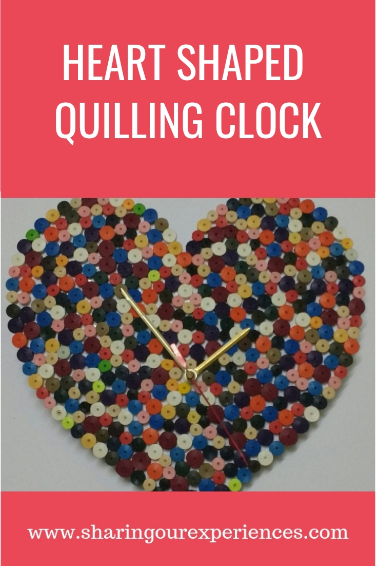Handmade clock Valentines Day craft_pin