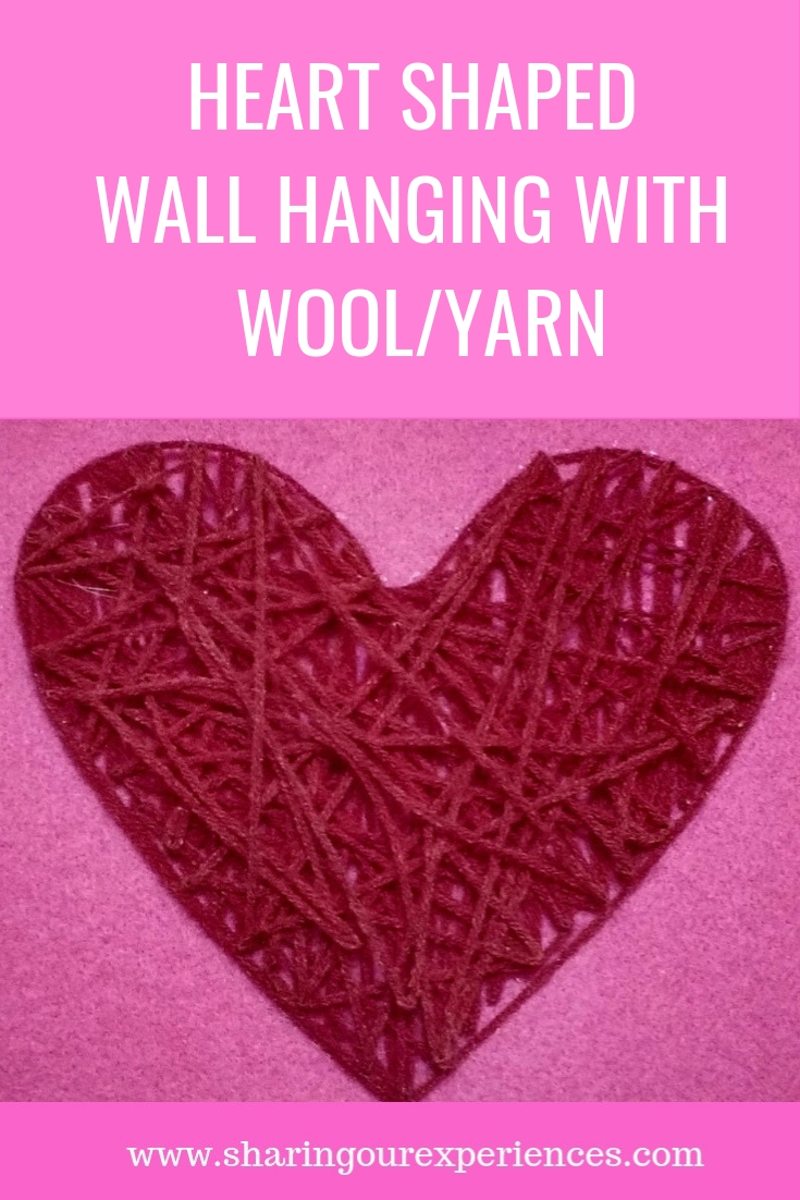 heart shaped wall hanging Valentines day crafts_pin