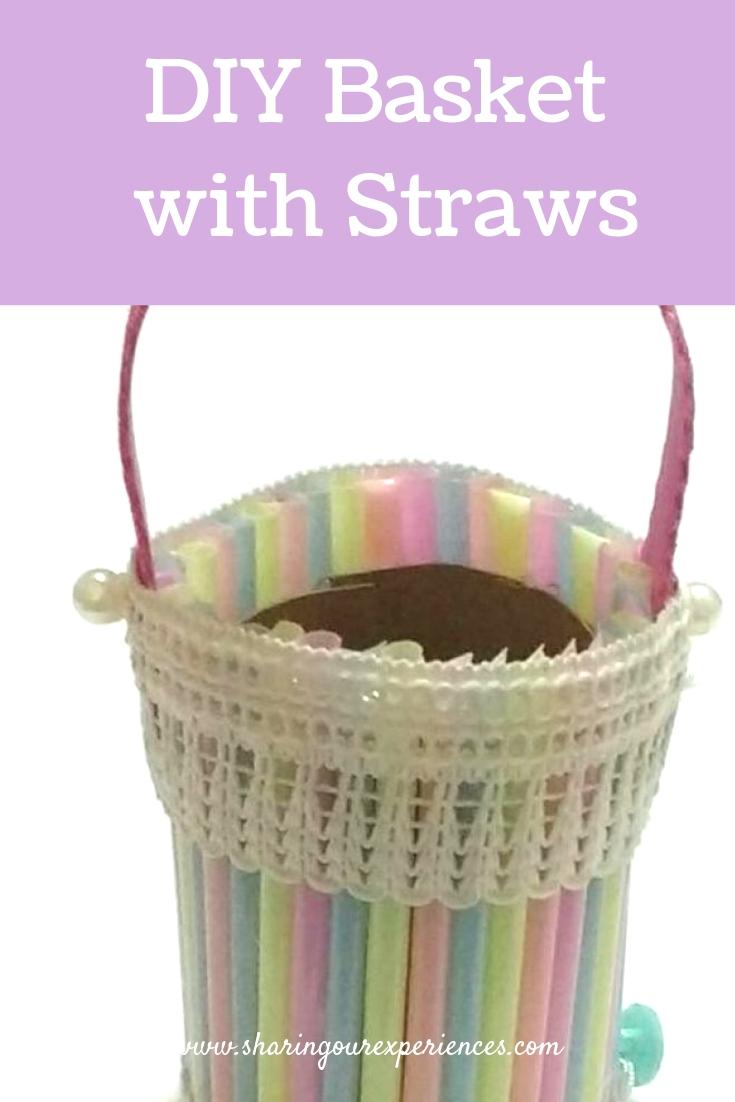Basket with Straw