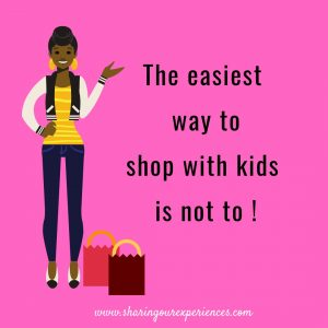 Parenting meme for every parent - The easiest way to shop with kids is not to !